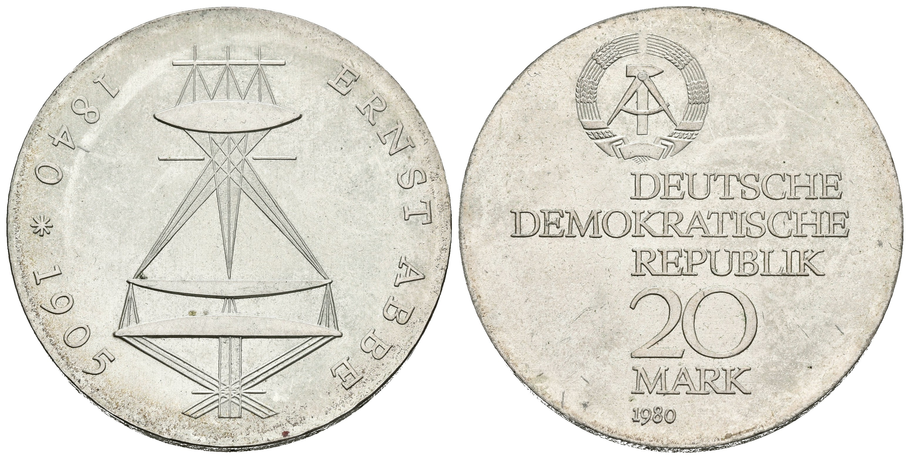 ALEMANIA. 20 Mark. 1980. Jaeger ...