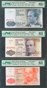 Set of 6 banknotes of ...